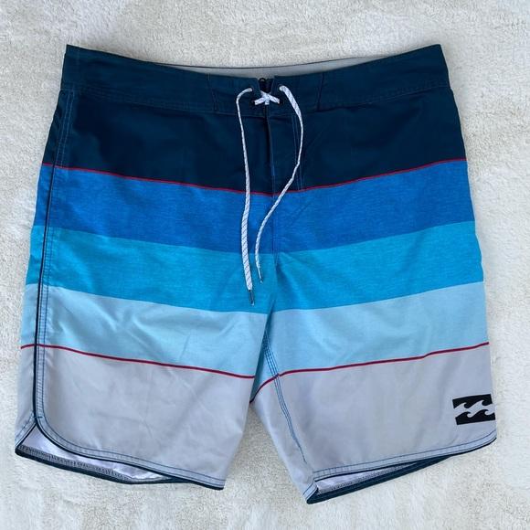 Billabong Men's OG Stripe Boardshorts Blue 38